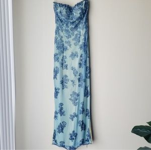 Cache Vintage Silk Beaded Dress / Gown  XS